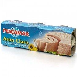 ATUN CLARO ACEITE LATA R85 PACK 3 UNID PESCAMAR